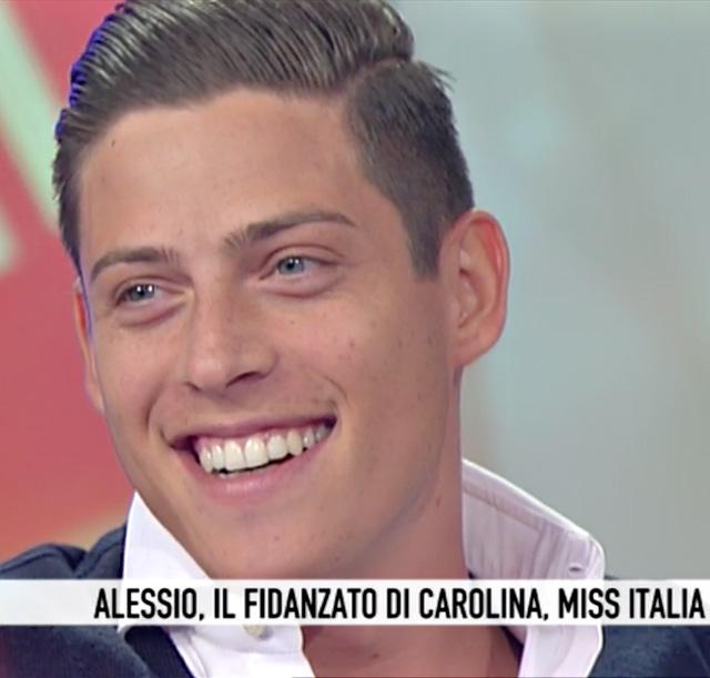 Alessio Falsone ha parlato del suo rapporto con la nuova Miss Italia Carolina Stramare