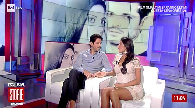 Sergio Arcuri e Valentina Donazzolo ospiti a 'Storie Italiane', lei si sente poco bene durante la diretta