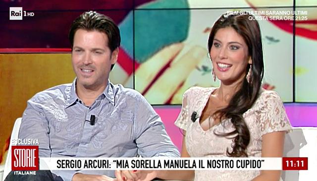 Sergio Arcuri e Valentina sono tornati a sorridere e ha raccontare della gioia per la bimba in arrivo