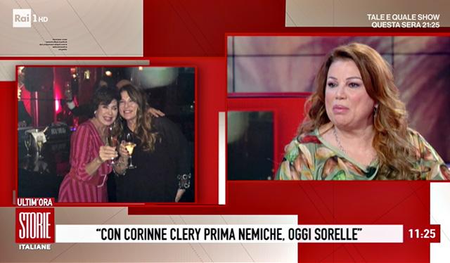 Corinne Clery è intervenuta telefonicamente nella trasmissione