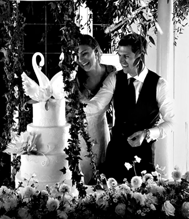 Risultati immagini per cristina chiabotto matrimonio torta