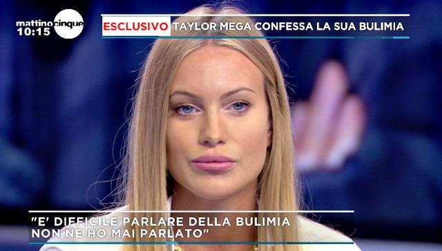 Taylor Mega, 25 anni, soffre di bulimia da quando ne aveva 20