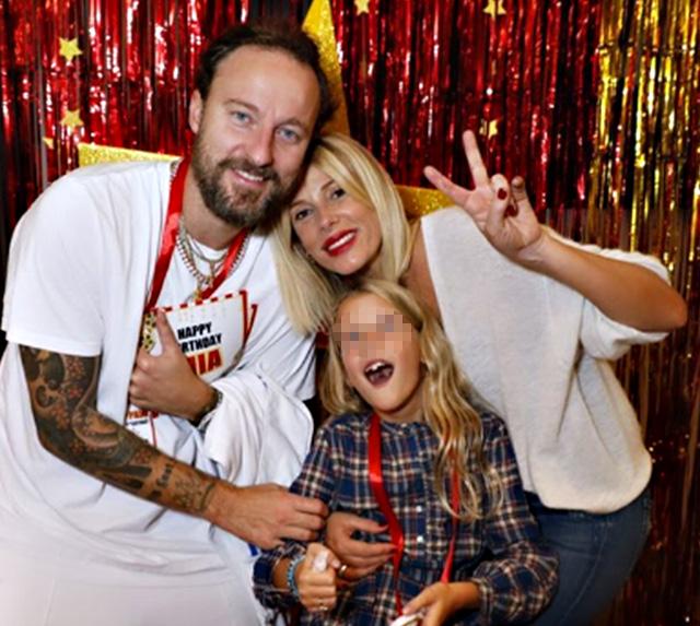 Alessia Marcuzzi e Francesco Facchinetti con la figlia Mia