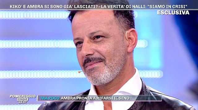 Kiko Nalli, 49 anni, è tornato in tv a parlare di Ambra Lombardo