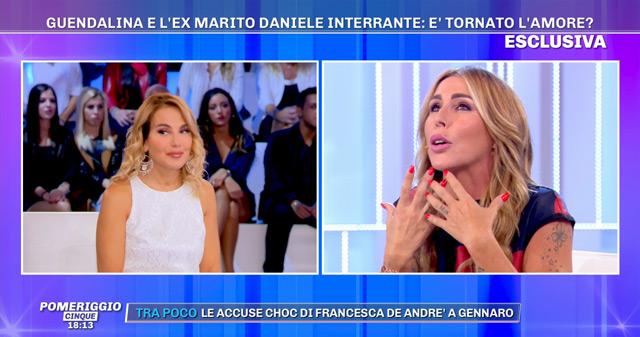 Guendalina Canessa, 37 anni, da Barbara D'Urso spiega che sua figlia Chloe vorrebbe che tornasse con suo papà Daniele Interrante