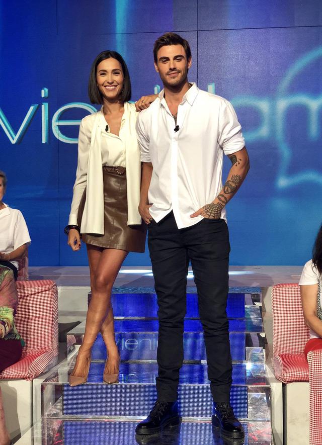 Caterina Balivo insieme a Francesco Monte prima della puntata