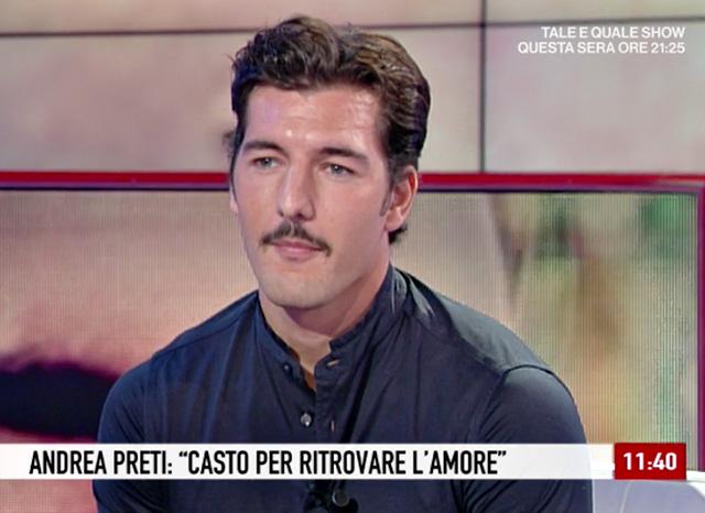 Andrea Preti spiega di essere casto da alcuni mesi