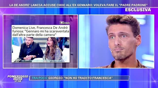 Per Gennaro Lillio Francesca De André ha mentito sul presunto episodio violento