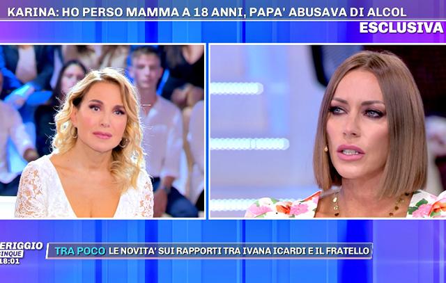 Karina Cascella con il suo racconto fa commuovere anche Barbara D'Urso