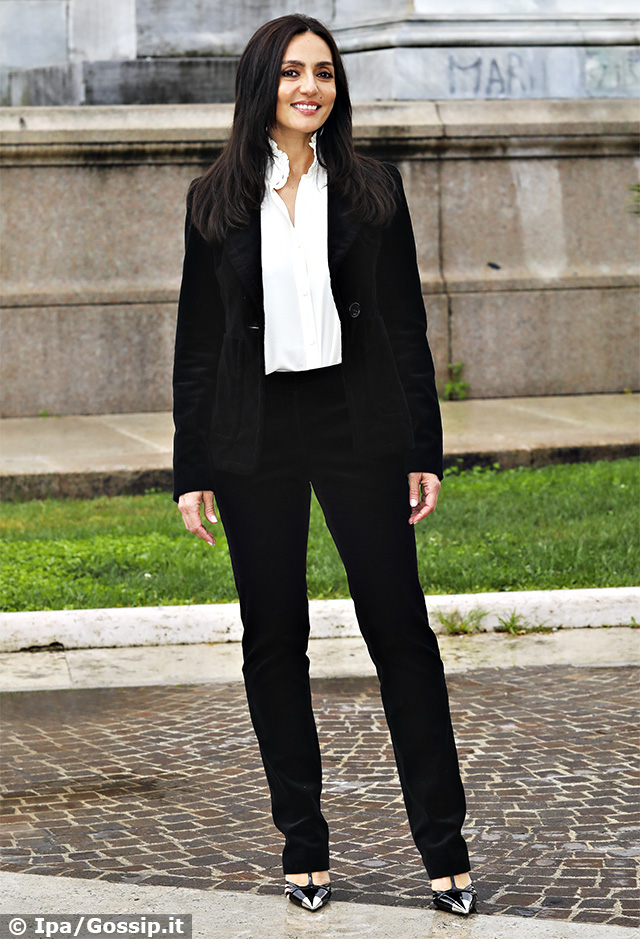 Ambra Angiolini, 42 anni, presenta a Roma il film 'Brave Ragazze'