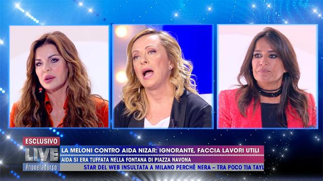 Alba Parietti e Aida Nizar insieme a 'Live - Non è la D'Urso' la scorsa domenica sera