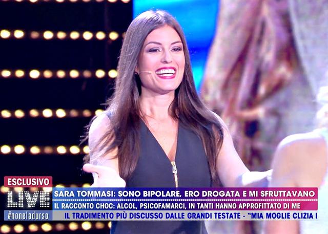 Sara Tommasi, 38 anni, è tornata in tv a 'Live - Non è la D'Urso'