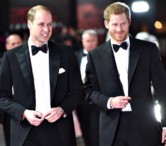 Il Principe Harry, 35 anni, insieme al fratello, il Principe William, 37