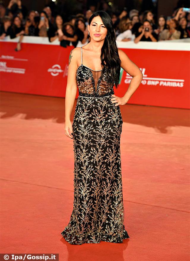 Eliana Michelazzo,40 anni, a sorpresa sul red carpet della Festa del Cinema di Roma
