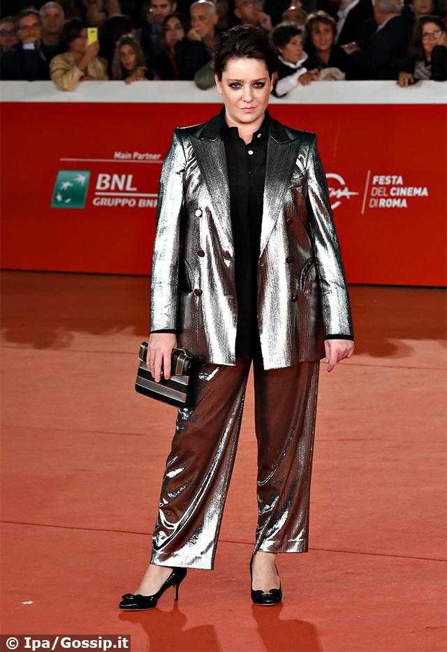 Giovanna Mezzogiorno, 44 anni, luccicante sul red carpet della Festa del Cinema di Roma 2019