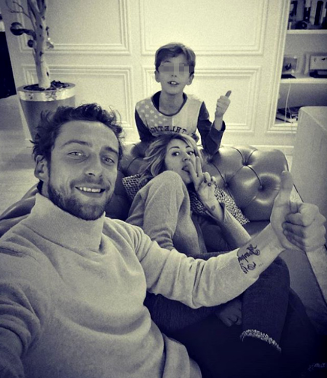 Claudio Marchisio in uno scatto di famiglia