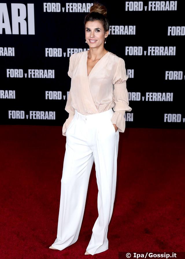 Elisabetta Canalis, 41 anni, a Los Angeles sul red carpet della premiere di 'Ford v Ferrari'