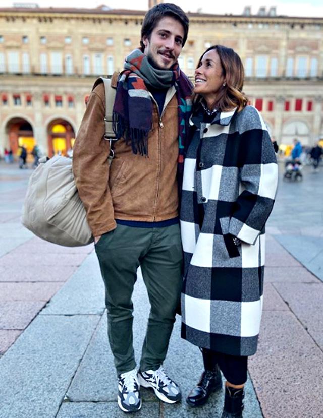 Cristina Parodi con il figlio Alessandro Gori