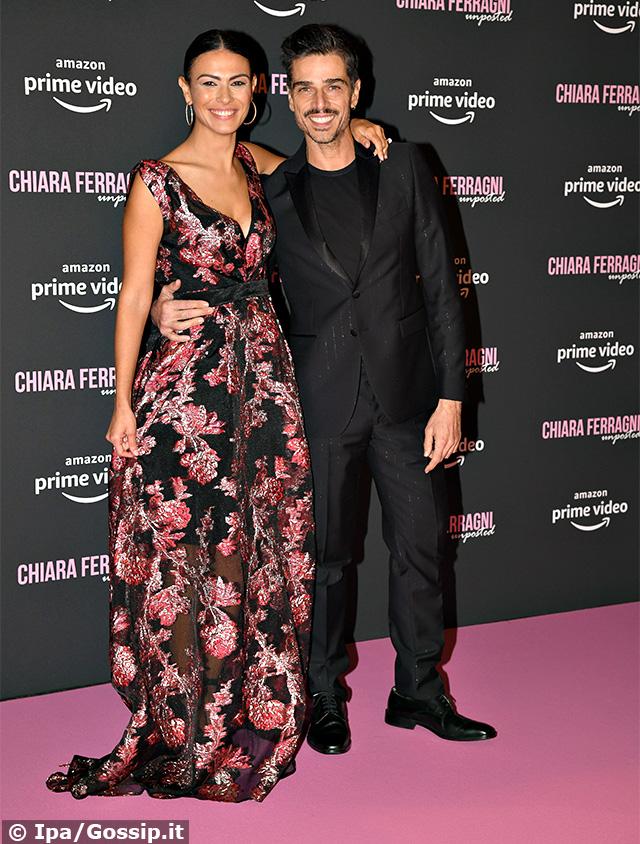 Massimiliano Varrese, 43 anni, e Valentina Melis, 39, sul red carpet a Roma per la premiere del film di Chiara Ferragni