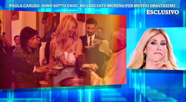 La Caruso piange rivedendo i video con Moreno: è pentita di averlo fatto entrare nella sua vita e in quella di suo figlio