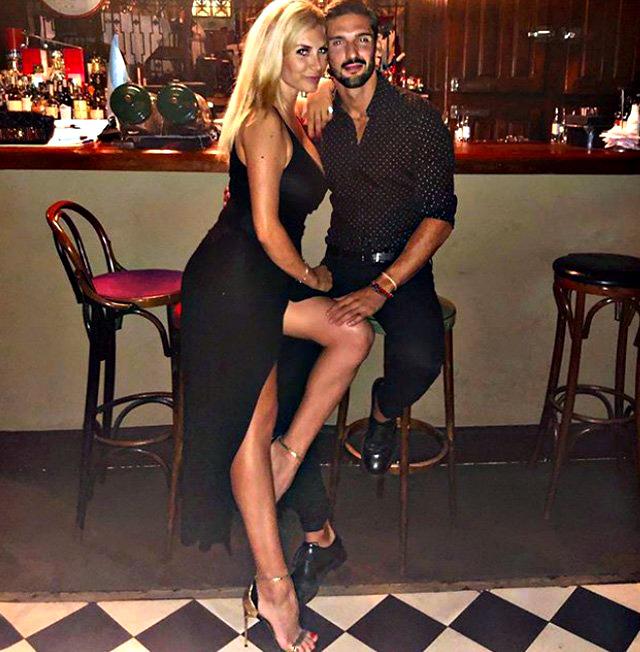 Paola Caruso e Moreno Merlo qualche settimana fa, quando erano ancora una coppia