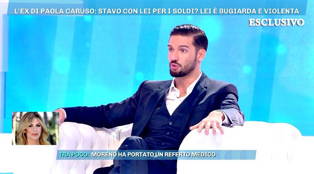 Moreno Merlo: 'Paola Caruso mi ha chiesto di fingerci fidanzati'