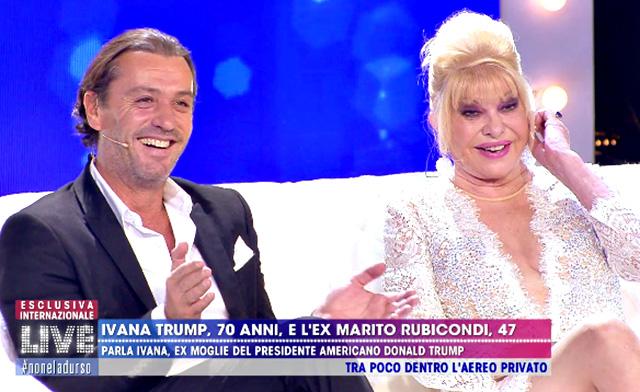 Rossano Rubicondi, 47 anni, ospite di 'Live - Non è la D'Urso' con Ivana Trump, 70