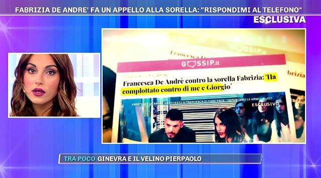 Francesca De Andrè replica all'appello della sorella Fabrizia: 'Ennesima coltellata'