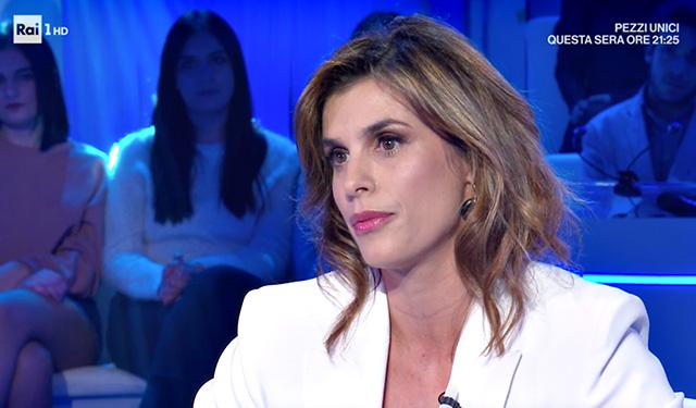 Elisabetta Canalis in lacrime per papà Cesare a 'Domenica In': 'La morte ci ha uniti'