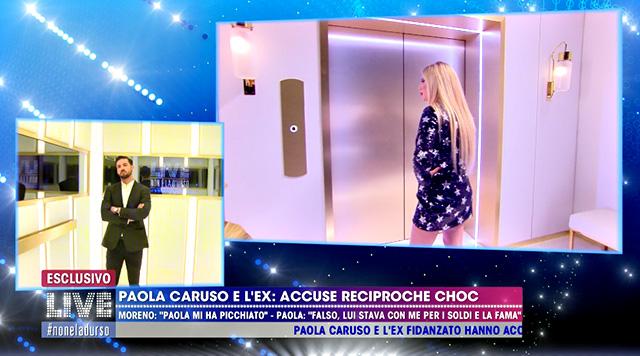 Paola Caruso e Moreno Merlo a confronto dalla D'Urso. Lui: 'Ringrazia Barbara che ti mantiene!'