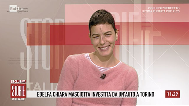 Edelfa Chiara Masciotta investita mostra cicatrici