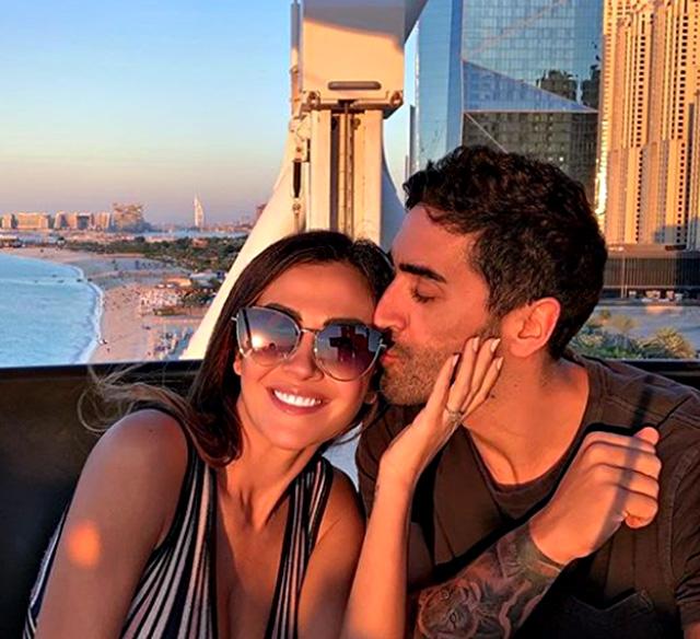 Giorgia Palmas e Filippo Magnini dopo la proposta di nozze volano a Dubai