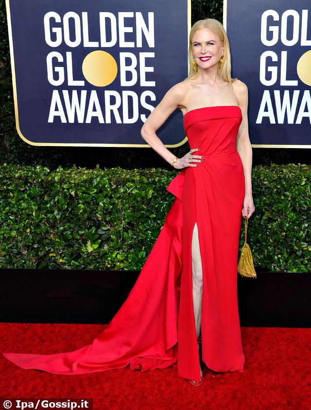 Nicole Kidman, 52 anni, in rosso