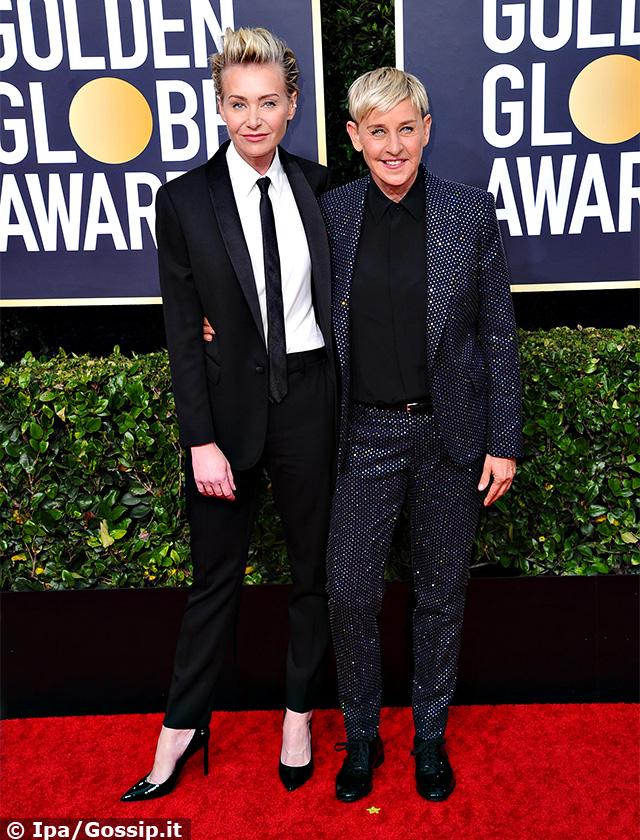 Ellen DeGeneres, 61 anni, con la moglie Portia de Rossi