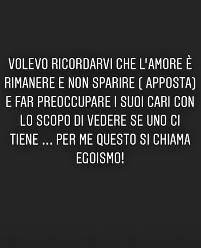 Le parole social di Nina Moric dopo la scomparsa del fidanzato Luigi Mario Favoloso