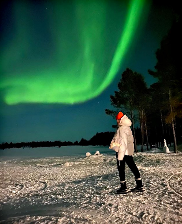 Francesca Fioretti, dedica a Davide Astori dalla Finlandia, al Polo Nord