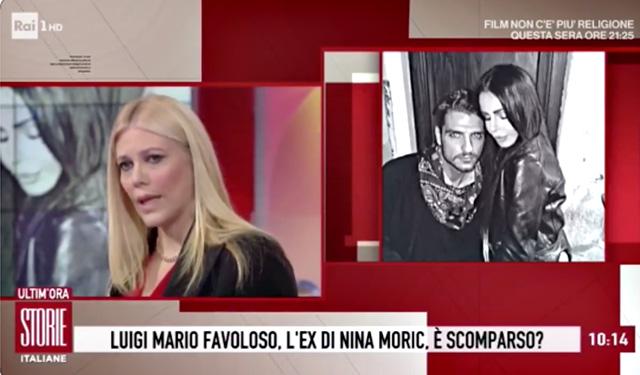 Eleonora Daniele a 'Storie Italiane' si occupa della scomparsa di Luigi Mario Favoloso