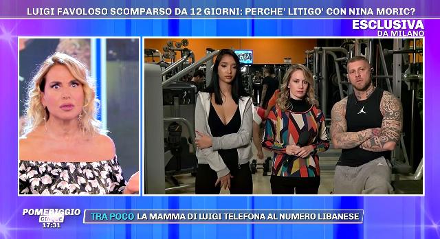 Barbara D'Urso collegata con Nathan, il personal trainer di Luigi Mario Favoloso, scomparso dallo scorso 29 dicembre