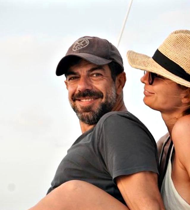 Pierfrancesco Favino insieme alla compagna Anna Ferzetti, 38 anni, con cui ha due figlie
