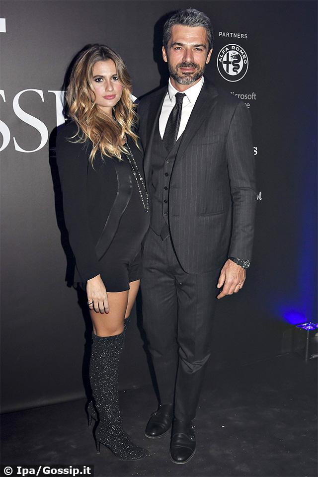 Cristina Marino, 28 anni, incinta insieme a Luca Argentero, 41, ai 'GQ Best Dressed Men 2020'