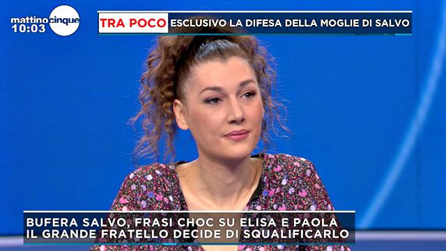 Giusy Merendino interviene a Mattino5 per parlare dell'eliminazione del marito Salvo Veneziano dal Grande Fratello Vip