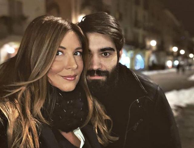 Selvaggia Lucarelli con il fidanzato Lorenzio Biagiarelli, 29 anni