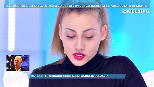 Salvo Veneziano, la figlia in lacrime in tv: 'Ho ricevuto tanti insulti, io bullizzata'