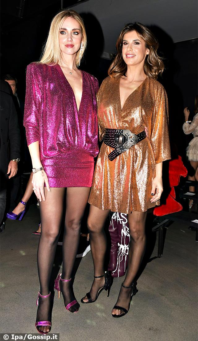 Chiara Ferragni, 32 anni, ed Elisabetta Canalis, 41, insieme ad un evento a Milano
