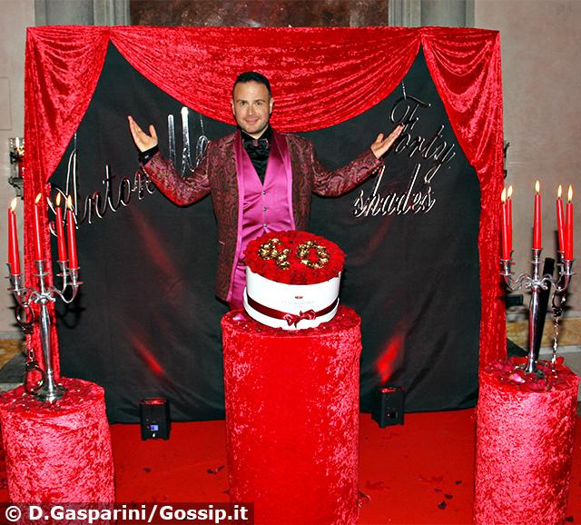 Antonello Lauretti festeggia 40 anni a Villa Brasini a Roma
