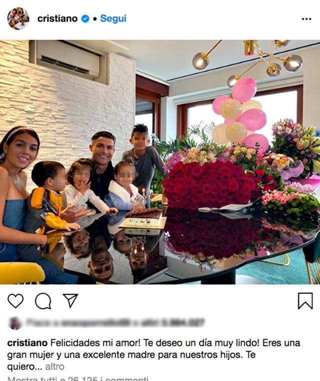 Georgina Rodriguez compie 26 anni, la dedica di Cristiano Ronaldo per il compleanno