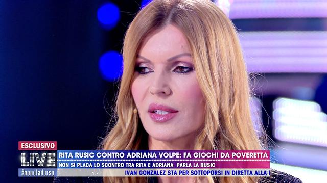 Rita Rusic contro Adriana Volpe: 'Non lavora più, per lei questo GF Vip è importante'