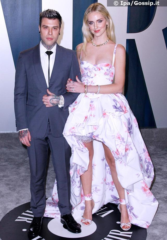Chiara Ferragni e Fedez al party degli Oscar 2020: per il secondo anno di seguito sul red carpet