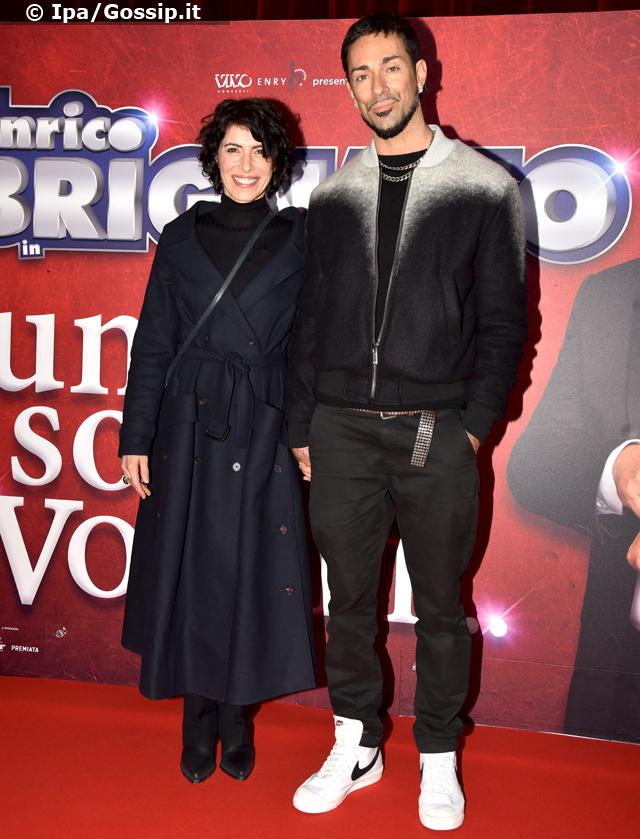 Giorgia ed Emanuel Lo alla prima di Brignano a Roma: una delle rare uscite mondane della coppia, foto