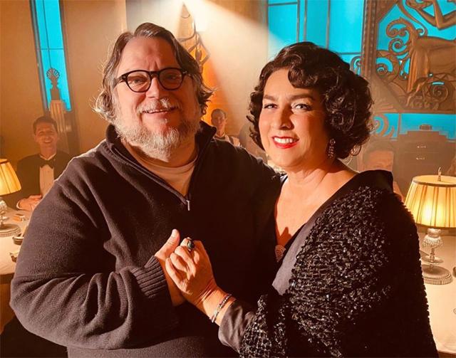 Romina Power con il regista Premio Oscar Guillermo Del Toro a Toronto